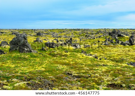 Volcanic landscape in the Snaefellsnes peninsula, west Iceland