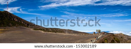 Volcanic landscape, Irazu, Volcan Irazu National Park, Costa Rica - stock photo