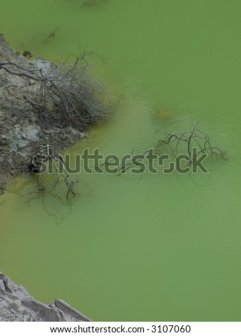Volcanic Pool - stock photo