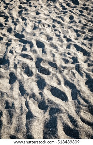 Volcanic Sand at a Beach in Sicily