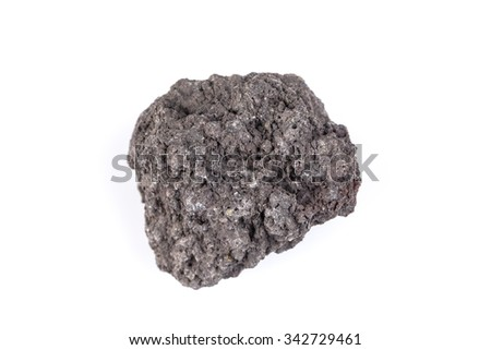 Volcanic stones on a white background - Etna, Italy