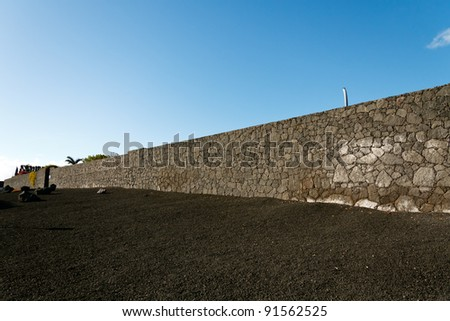 Volcanic Wall in Lanzarote,Spain