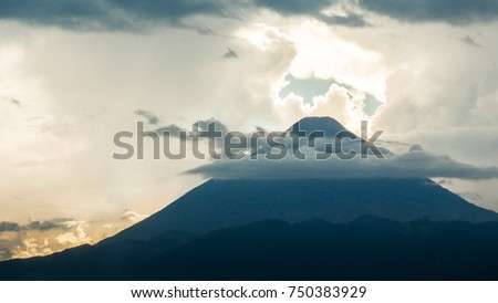 Volcano and the sky