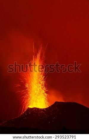Volcano eruption. - stock photo