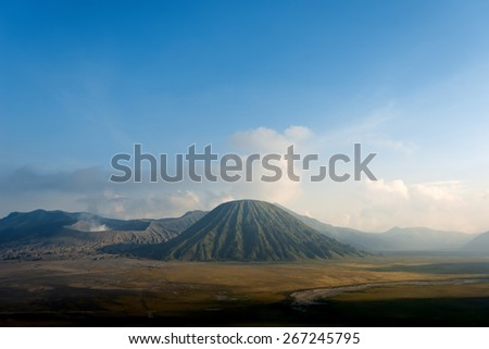 Volcano in Bromo-Tengger-Semeru-National Park, East Java, Indonesia - stock photo