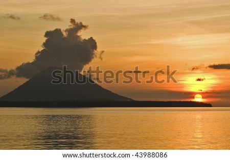 volcano, Indonesia, Asia, Lembeh,