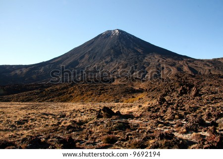 Volcano - Tongariro National Park, New Zealand - stock photo