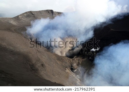 Volcano Yasur - stock photo