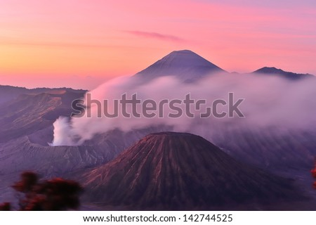 Volcanoes of Bromo National Park, Java, Indonesia