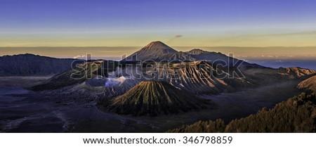 Volcanoes of Bromo National Park, Java, Indonesia. - stock photo