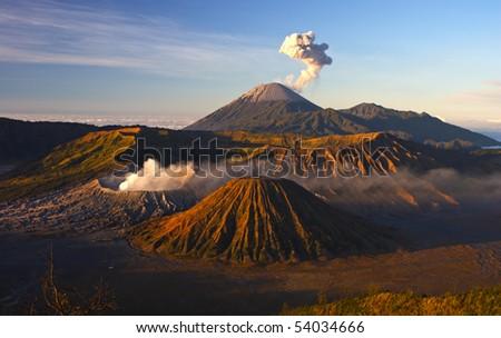 Volcanoes of Bromo National Park, Java, Indonesia - stock photo