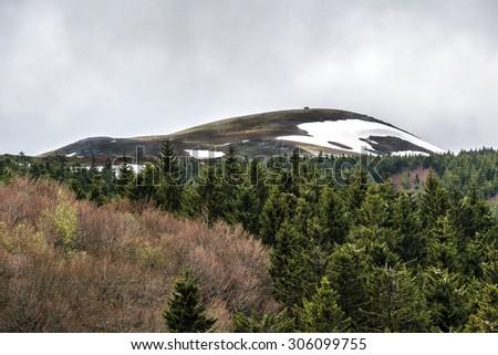 Volcans d'Auvergne regional natural park, Monts Dore Mountains, Auvergne, France - stock photo