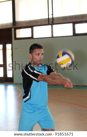 volley-ball player in action - stock photo