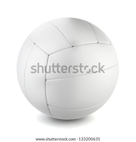 Volleyball' ball. 3d illustration on white background - stock photo