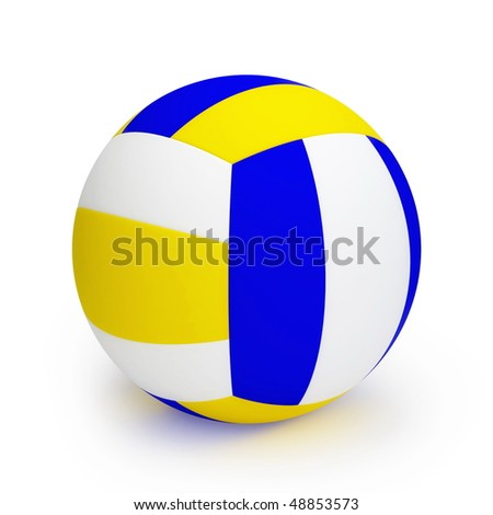 Volleyball ball isolated on white