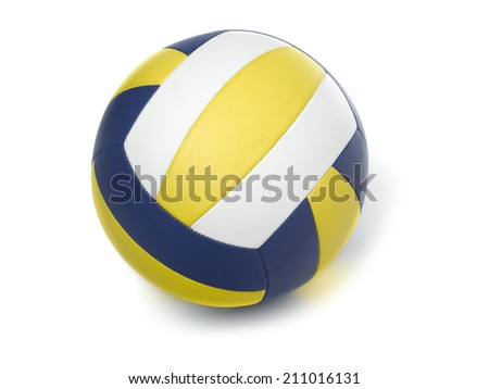 Volleyball ball on white - stock photo