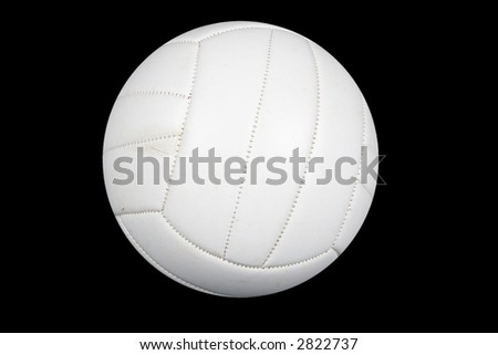 volleyball isolated on a black background - stock photo