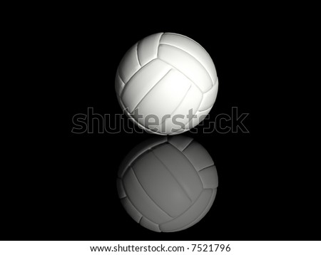 volleyball isolated on black background - stock photo