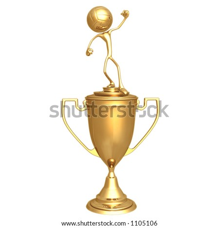 Volleyball Sport Trophy