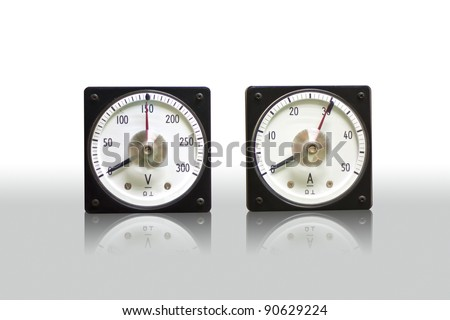 Volt-Amp meter - stock photo