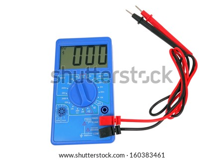 Voltage tester on a white background