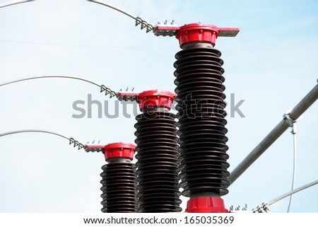 Voltage Transformer - stock photo