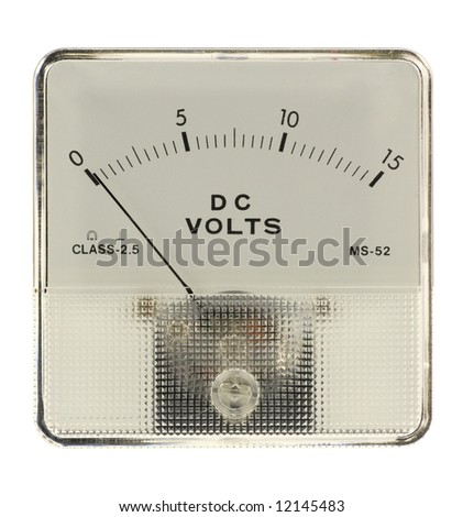 Voltmeter - stock photo