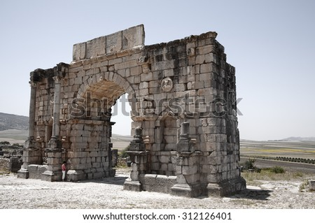 Volubilis Archaeological site. Marocco