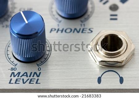 Volume adjustment knobs - stock photo