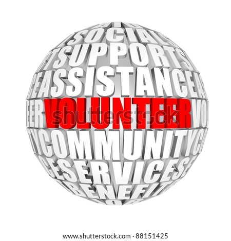 volunteer - stock photo
