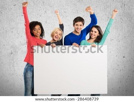 Volunteer, Group Of People, Marketing. - stock photo