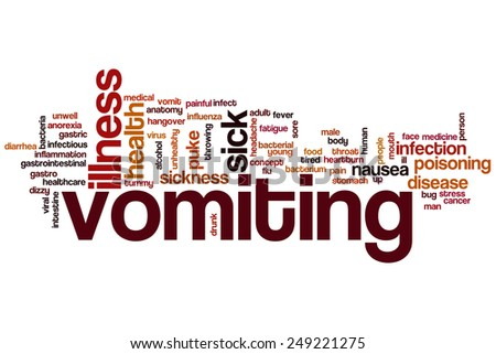Vomiting word cloud concept - stock photo
