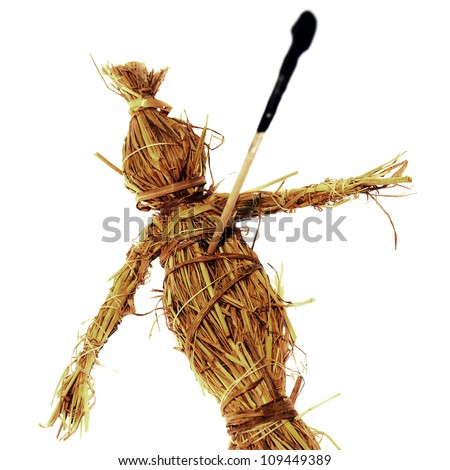 Voodoo doll - stock photo