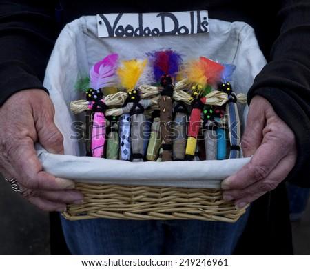 Voodoo Dolls for Sale - stock photo