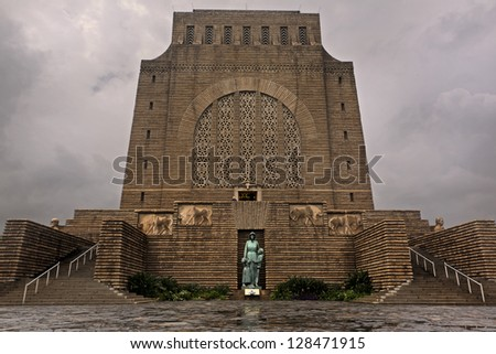 Voortrekker Monument on a cloudy day