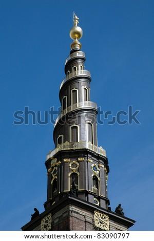 Vor Frelsers Kirke, Copenhagen - stock photo