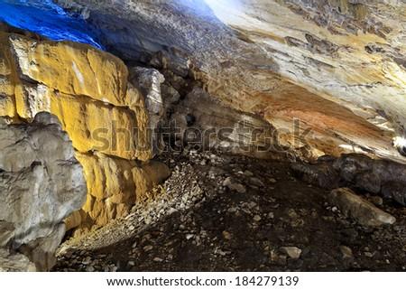 Vorontsovskaya cave in Sochi - stock photo