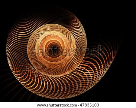 vortex , spiral abstract motion on black background, - stock photo