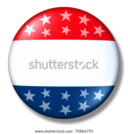 vote badge blank isolated patriotic election symbol - stock photo
