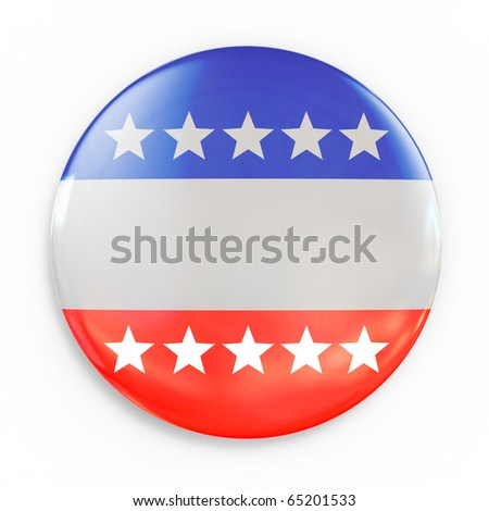 vote badge 3d illustration - stock photo