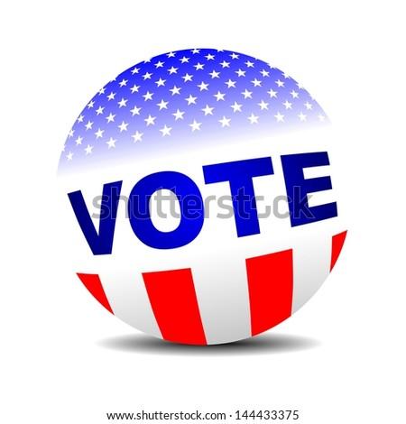 vote badge, VOTE 3D sphere - stock photo