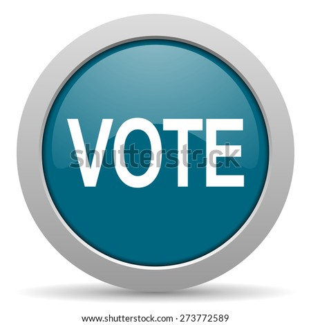 vote blue glossy web icon