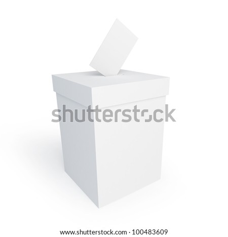 vote box form on a white background - stock photo
