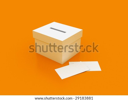 vote box with envelope - stock photo