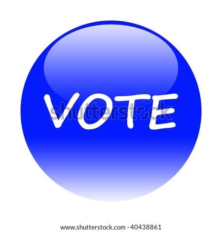 vote button - stock photo