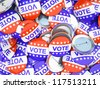 vote buttons - stock vector