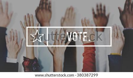 Vote Campaign Democracy Volunteer Concept - stock photo