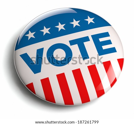 Vote election campaign badge button. - stock photo