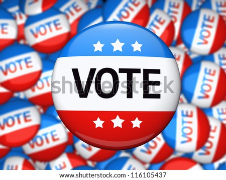 Vote election campaign glossy badge