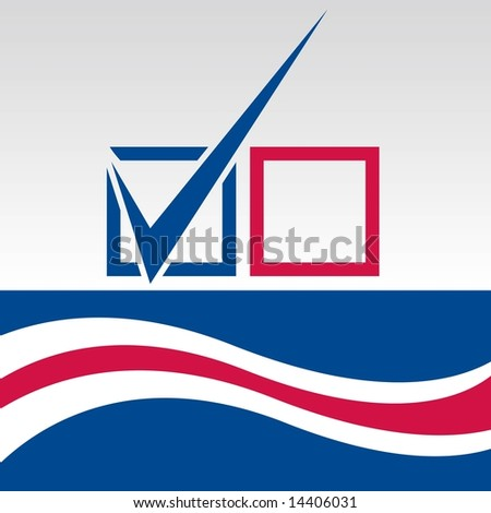 Vote graphic with blue checkmark in JPEG/TIFF format (Image ID for vector version: 14317330) - stock photo